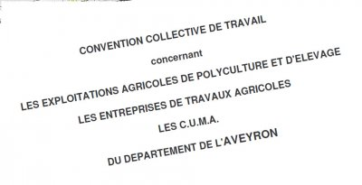 convention collective polyculture elevage aveyron